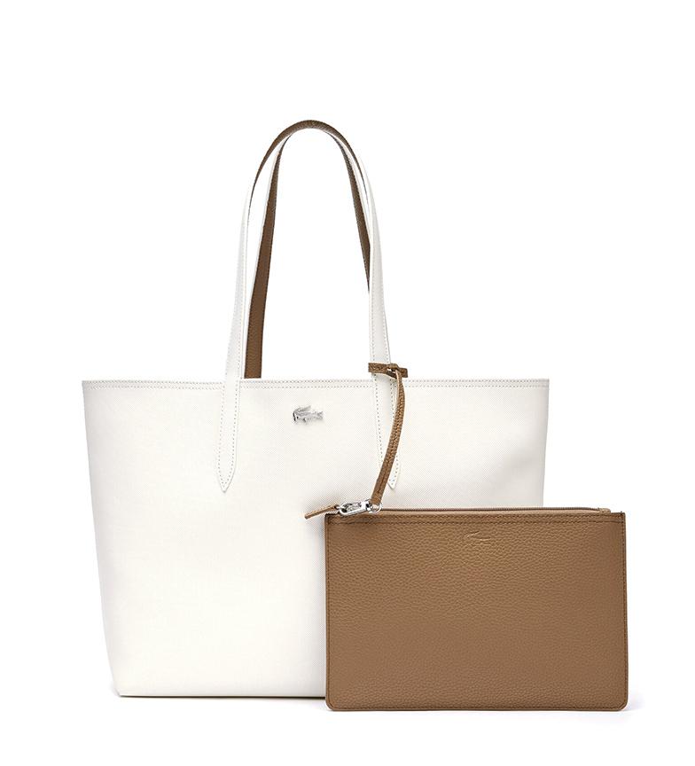 Comprar Lacoste Sac à main Anna Bicolore réversible beige, marron -35x30x14cm
