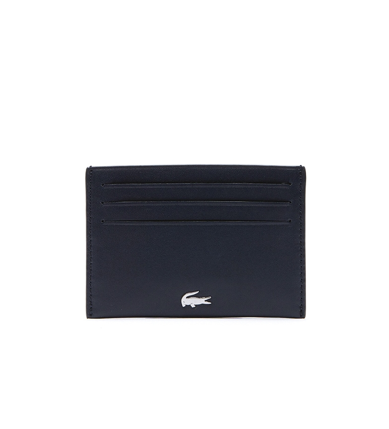 Comprar Lacoste Leather Card Holder Fg Collection black