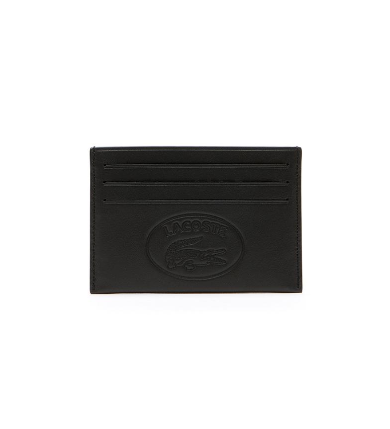 Comprar Lacoste Porte-cartes en cuir L.12.12 noir -11x7,5x0,5cm