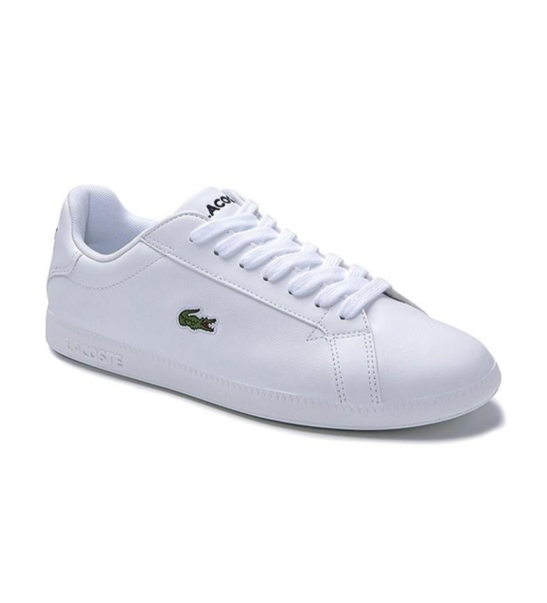 Comprar Lacoste Scarpe graduate in pelle bianca