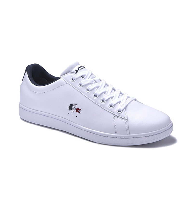 Comprar Lacoste Carnaby Evo leather slippers white