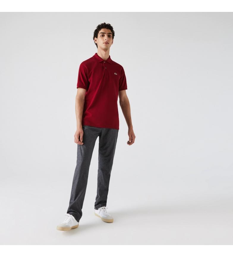 Lacoste Polo Classic Fit L.12.12 rojo burdeos