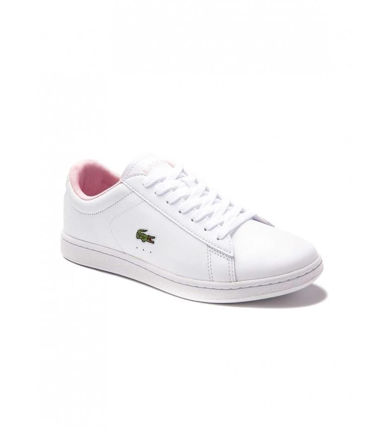 Comprar Lacoste Carnaby Evo Chinelos de couro branco, rosa