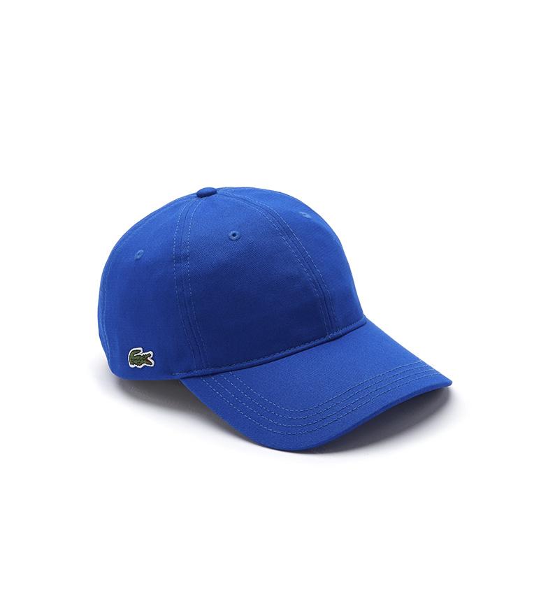 Comprar Lacoste Gorra de Algodón con Correa a Contraste azul