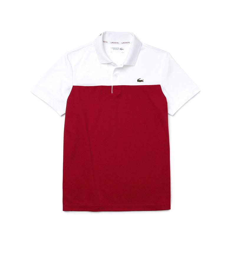 Lacoste Pólo Polo Esportivo Técnico Pique Pólo Bicolor vermelho, branco