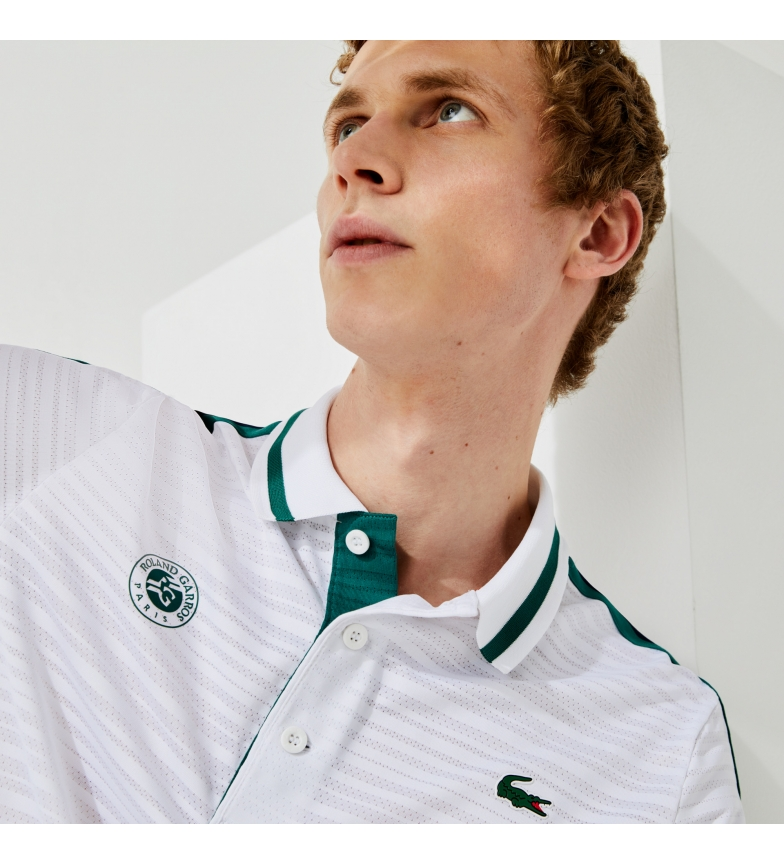 Lacoste Polo SPORT French Open Edition Second Skin effect branco