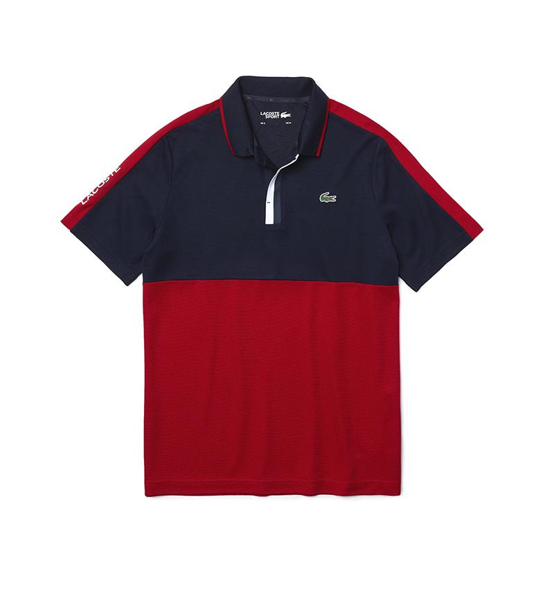 Comprar Lacoste Pólo de Golfe Desportivo Pólo de Golfe de malha, marinha, vermelho
