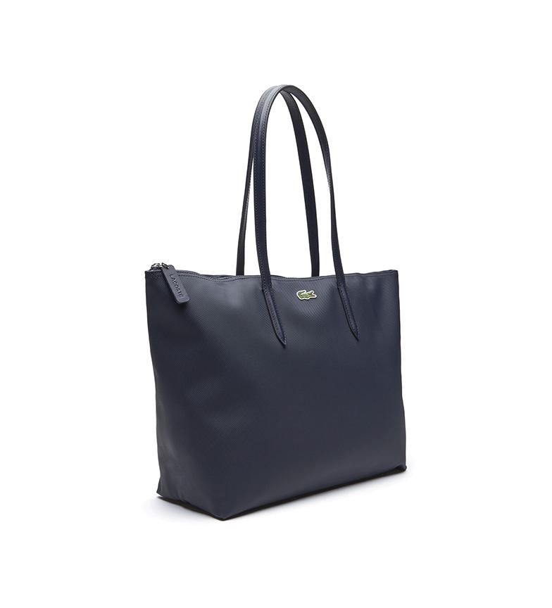 Comprar Lacoste Saco Tote Bag L.12.12 Conceito com Zipper Marinha -35x30x14cm