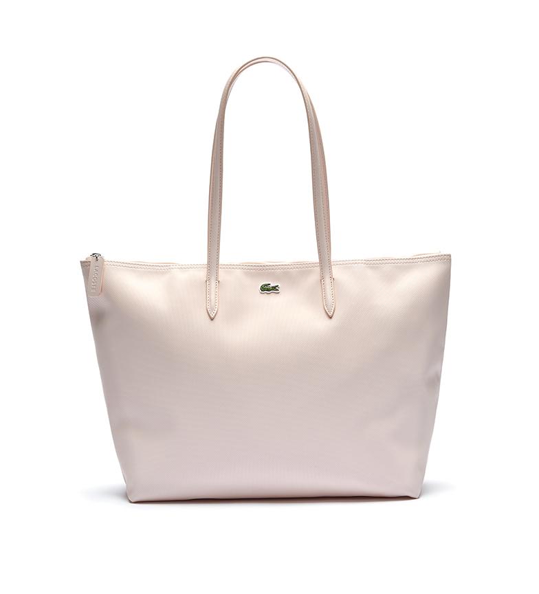 Comprar Lacoste Saco Tote L.12.12 Conceito com Zipper rosa -35x30x14cm