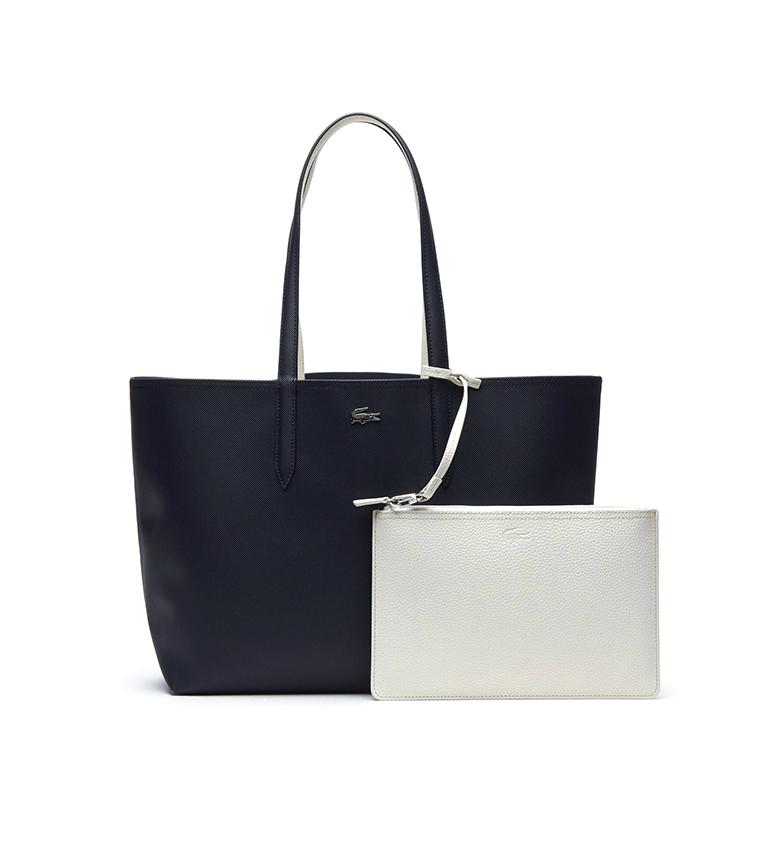 Comprar Lacoste Anna Reversible Bicolour navy, white -35x30x14cm