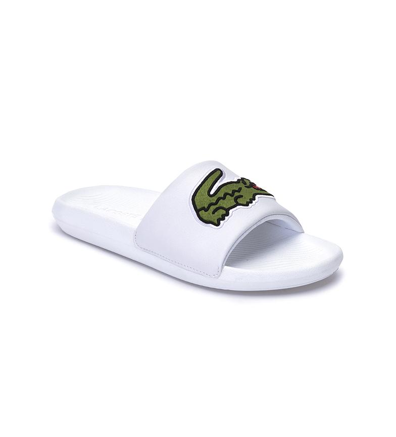 Comprar Lacoste Croco white flip flops
