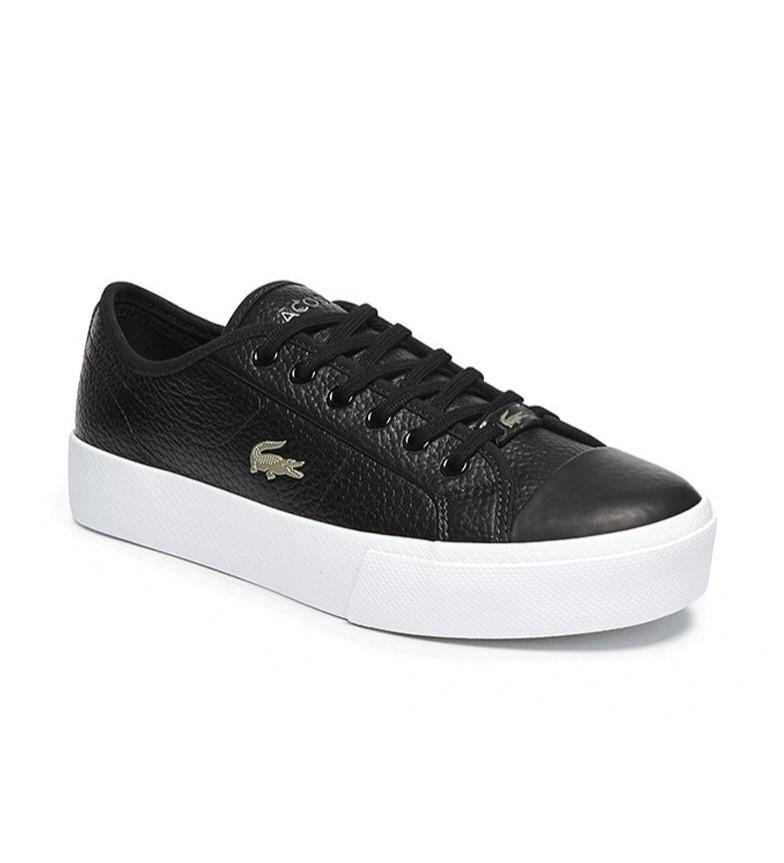 Comprar Lacoste Ziane Plus Grand tênis de couro preto