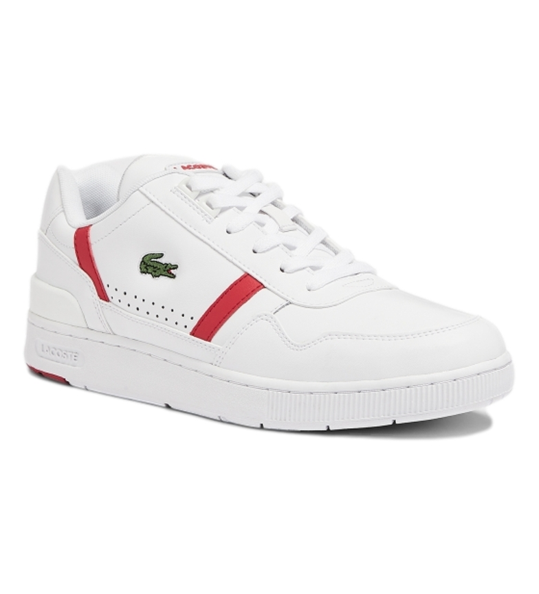 Comprar Lacoste Leather sneakers T-Clip 0721 2 SMA white, red