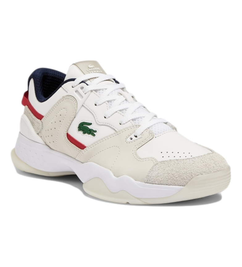 Comprar Lacoste Leather sneakers T-Point 0721 1 G SMA white, navy, red