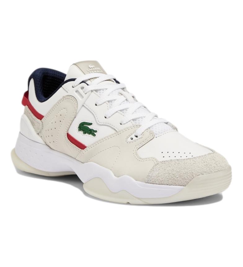 Comprar Lacoste Baskets en cuir T-Point 0721 1 G SMA blanc, marine, rouge