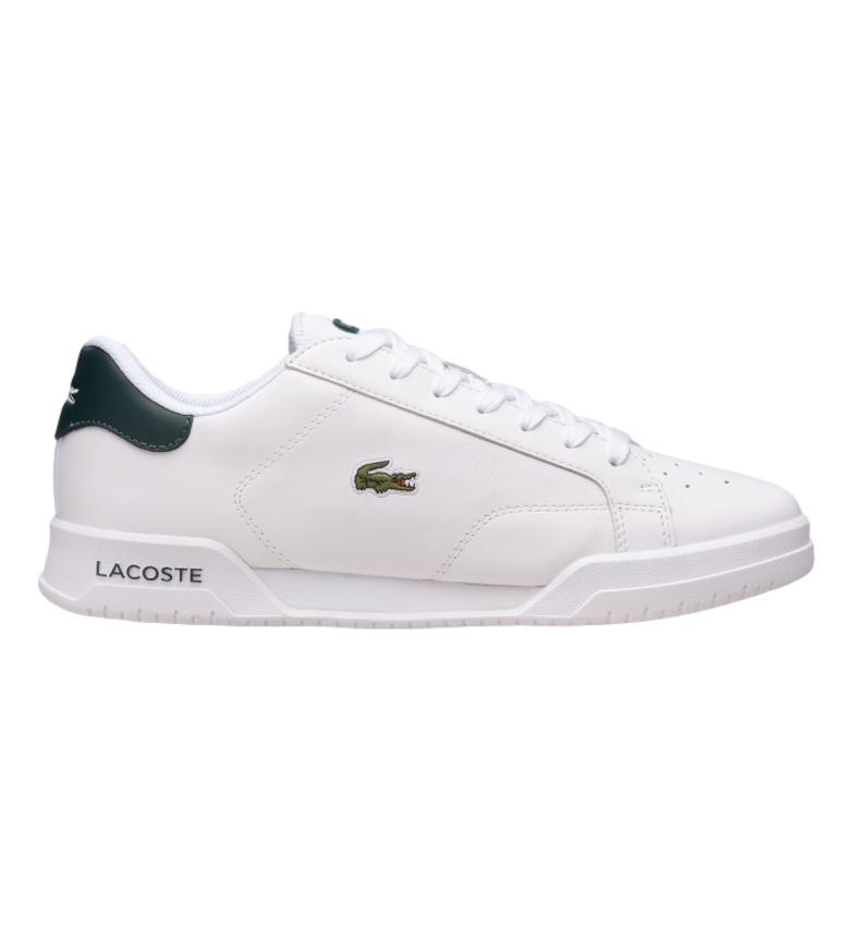 Comprar Lacoste Twin Serve 0721 1 SMA chaussures en cuir blanc, vert