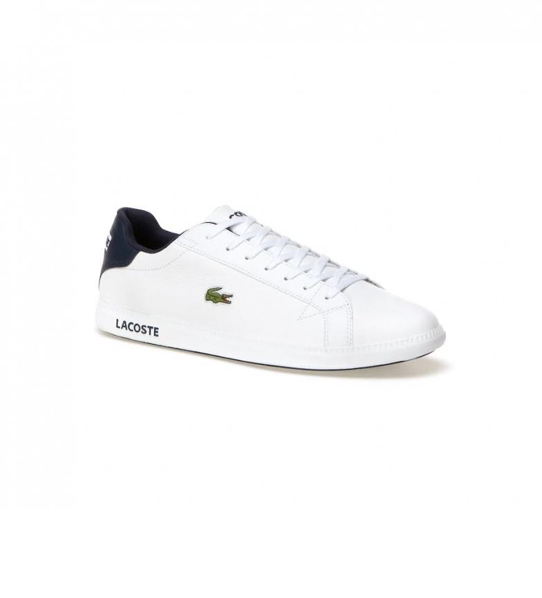 Comprar Lacoste Zapatillas de piel Graduate blanco