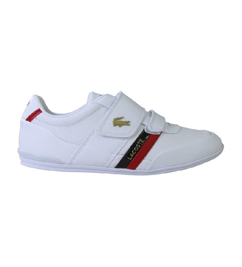 Comprar Lacoste Sapatos de couro Misano Strap branco, vermelho