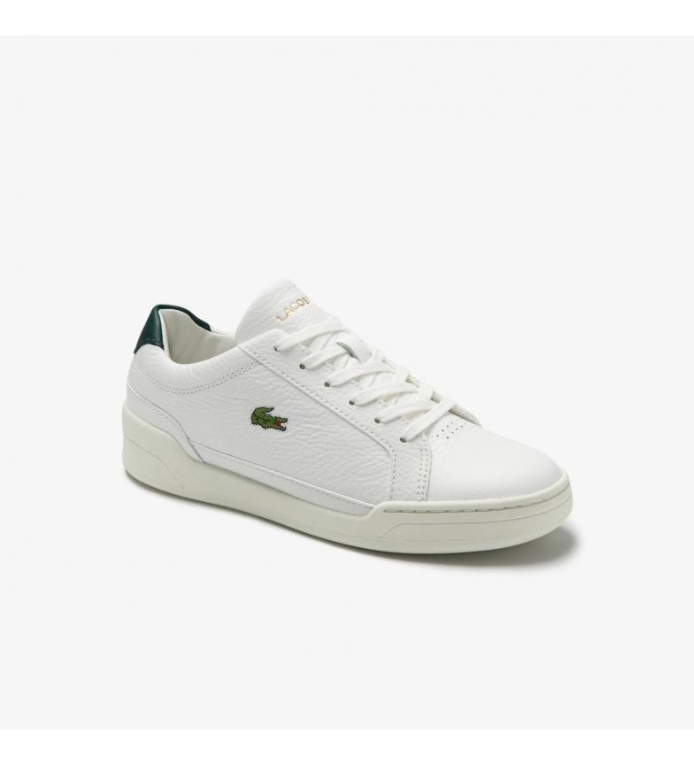 Comprar Lacoste Challenge 0120 scarpe di pelle bianca, verde