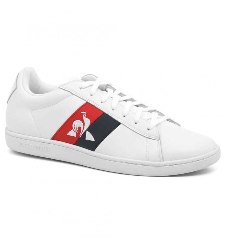 Comprar Le Coq Sportif Cuir CourtClassic Chaussures drapeau blanc
