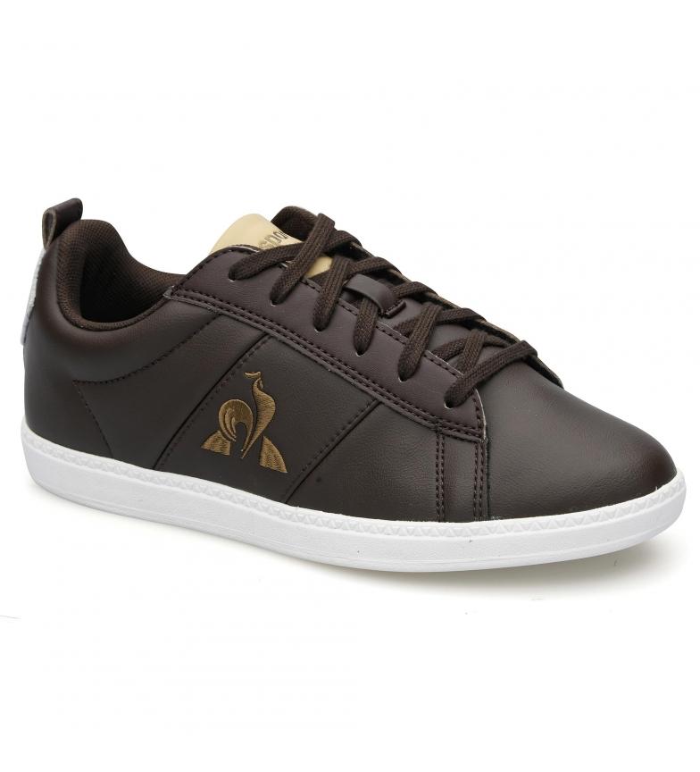 Comprar Le Coq Sportif Chaussures en cuir Courtclassic GS marron