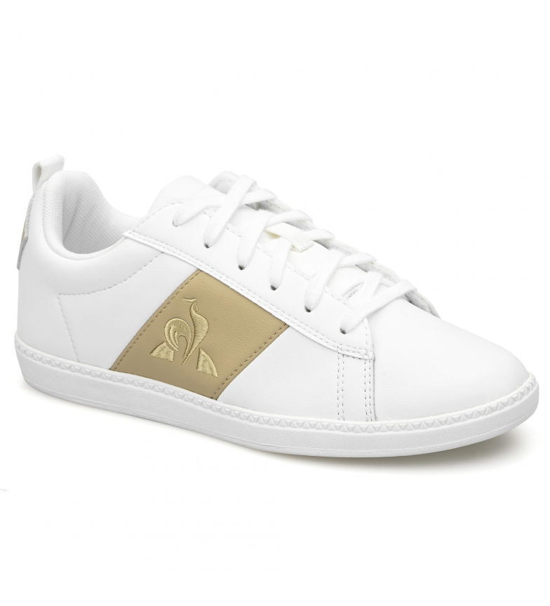 Comprar Le Coq Sportif Courtclassic GS leather shoes white, gold