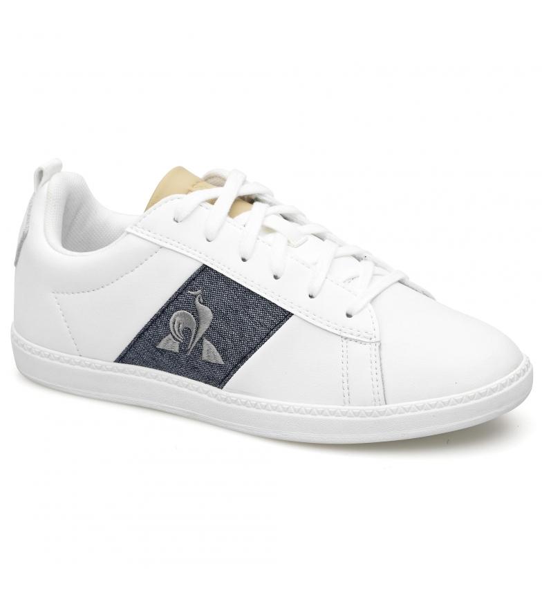 Comprar Le Coq Sportif Courtclassic GS Chaussures en cuir blanc, bleu
