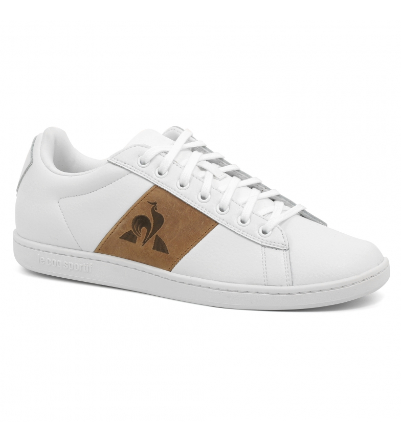Le Coq Sportif CourtClassic optical white leather sneakers