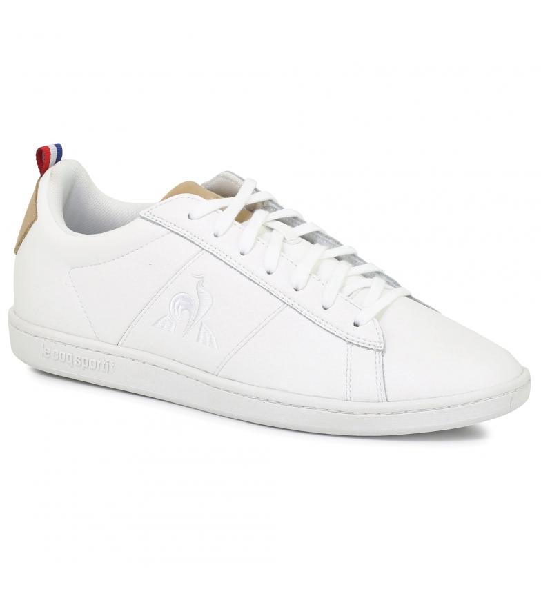 Le Coq Sportif Sneakers Courtclassic Printemps in pelle bianca