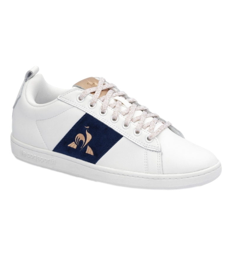 Le Coq Sportif Court Classic Velvet white leather sneakers