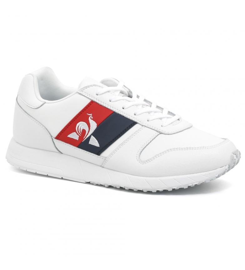 Comprar Le Coq Sportif Baskets en cuir blanc Jazy Classic Flag