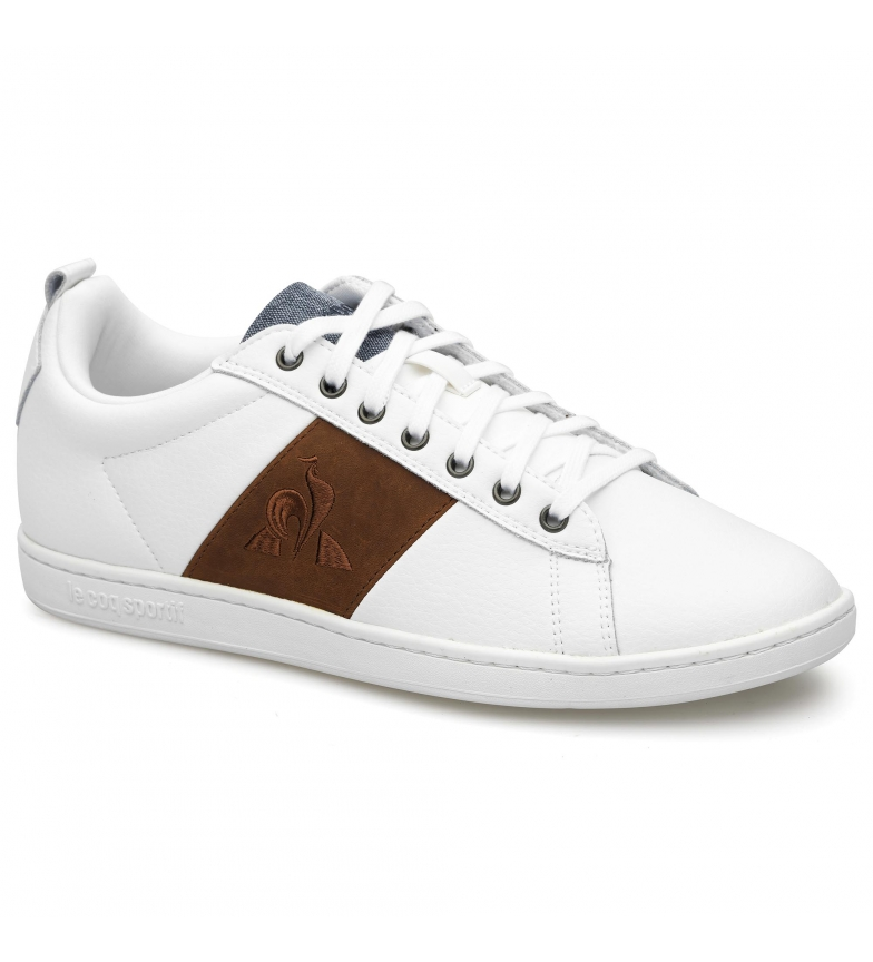 Le Coq Sportif Leather sneakers COURTCLASSIC white. burgundy