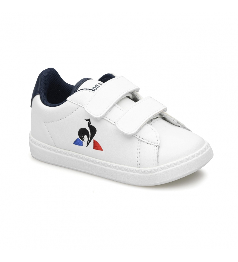 Le Coq Sportif COURTSET INF white, navy sneakers