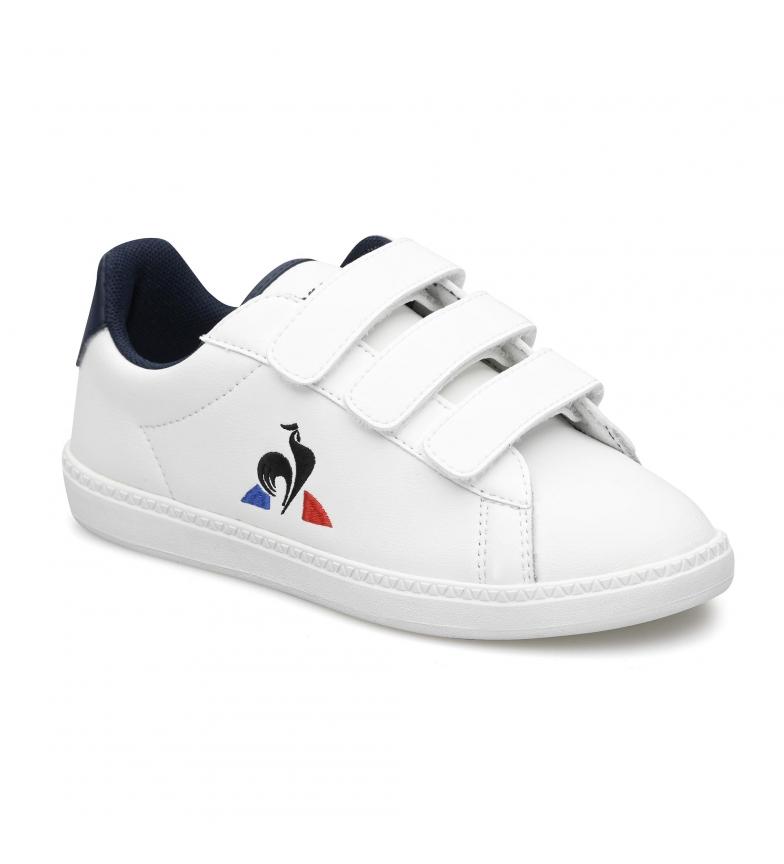 Le Coq Sportif COURTSET PS blanc, marine baskets