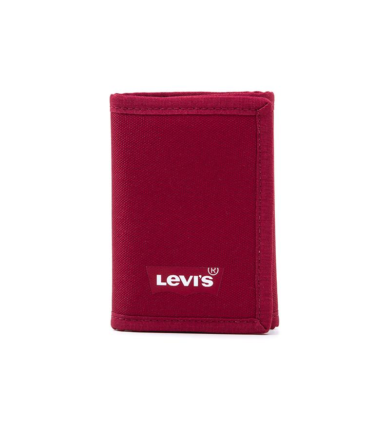 Levi's Portafoglio Batwing Trifold rosso -9x12cm-