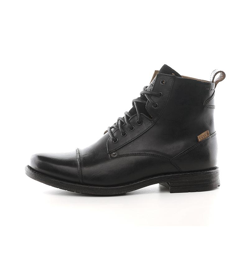 Comprar Levi's Botas de couro preto do tornozelo Emerson