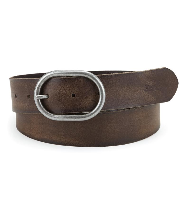 Comprar Levi's Cinturón de piel Calneva marrón