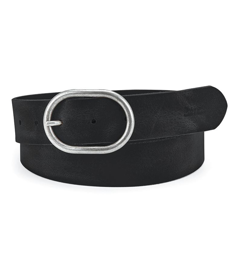 Levi's Cinturón de piel Calneva negro
