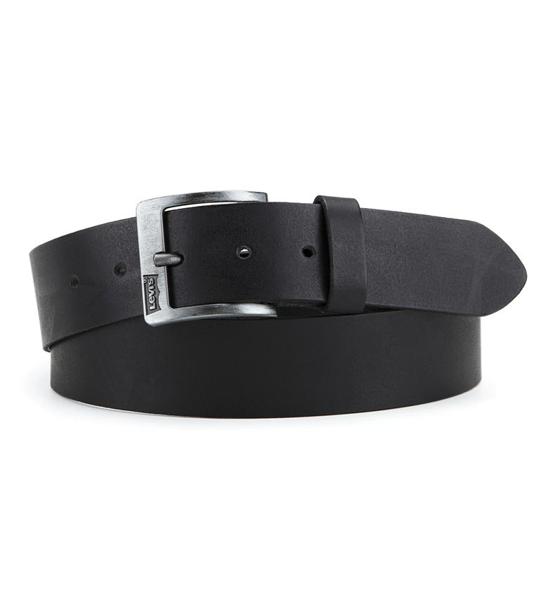 Levi's Cloverdale Cintura in pelle nera