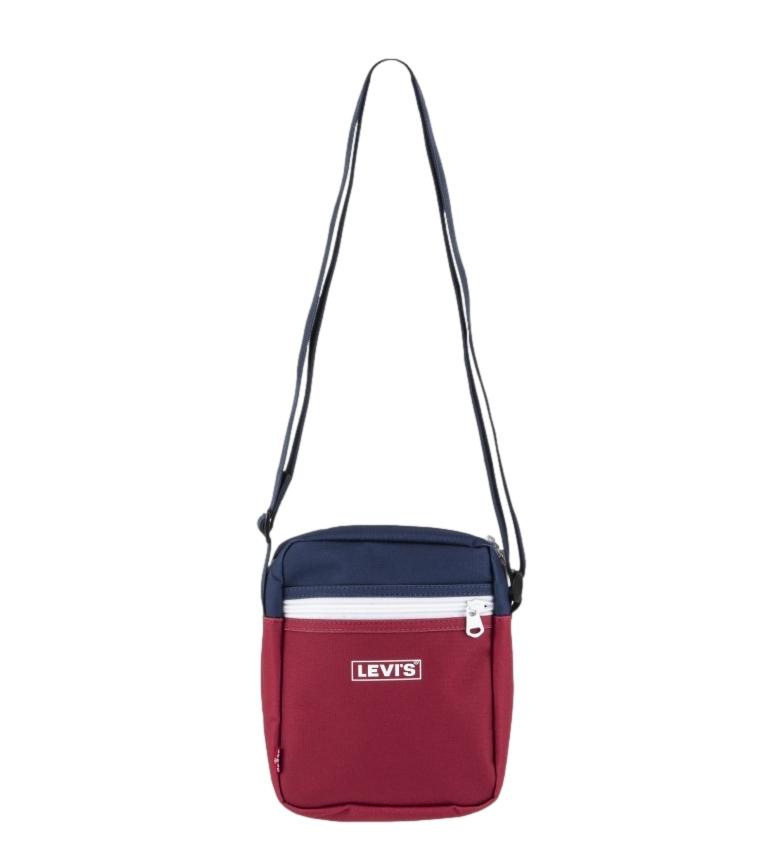 Levi's Colorblock X-Body OV saco de ombro azul, vermelho -16x6x20cm