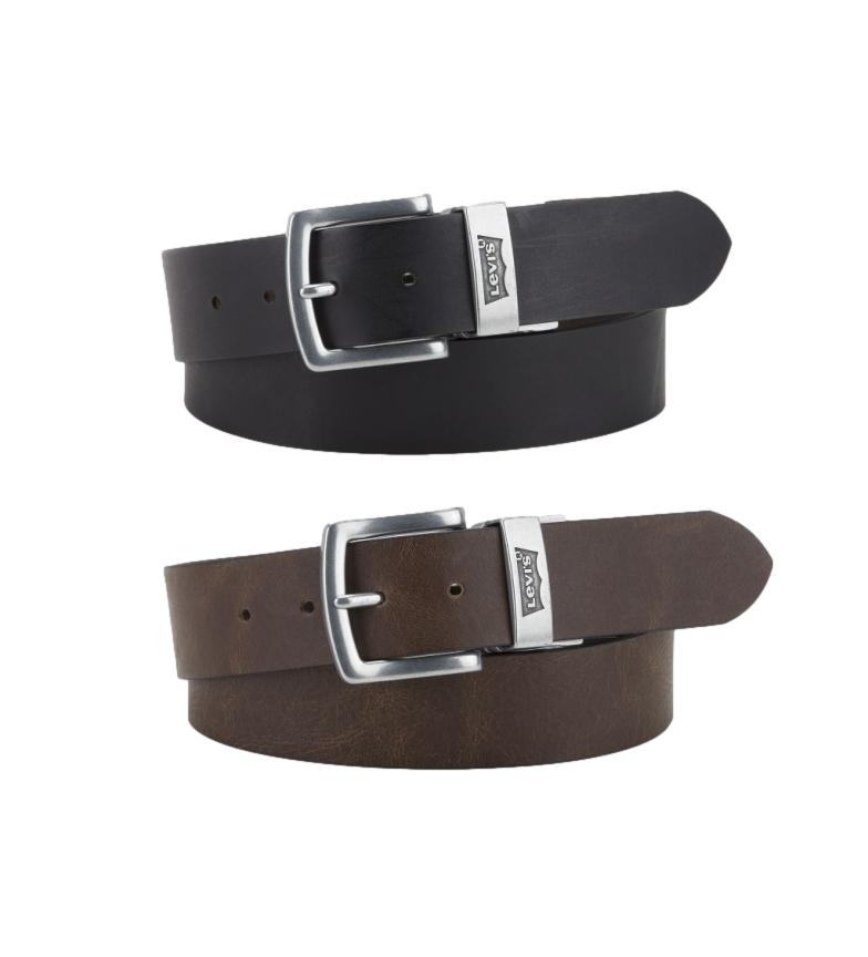 Comprar Levi's Cinturón de piel Reversible Louie marrón, negro
