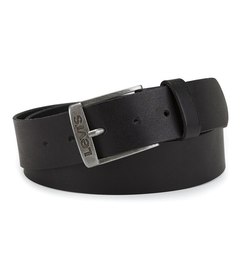 Levi's Nouvelle ceinture Duncan en cuir noir