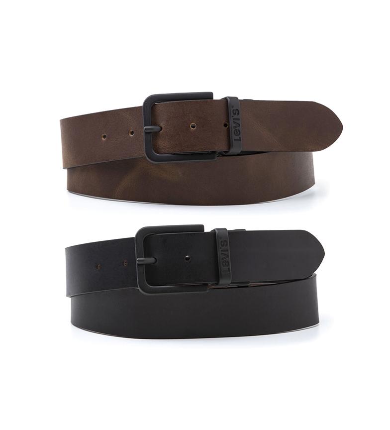 Comprar Levi's Reversible Core Metal Belt black, brown