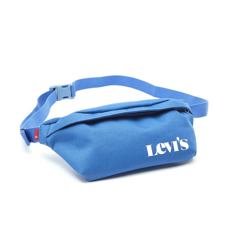Levi's Marsupio blu con logo moderno vintage a banana piccola -27x5,5x12cm-