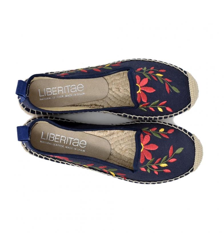 billig salg sneakernews Liberitae Alpargata En Brodert Tekstil Marino- billig utforske kjøpe billig profesjonell virkelig billig online kLt6iO