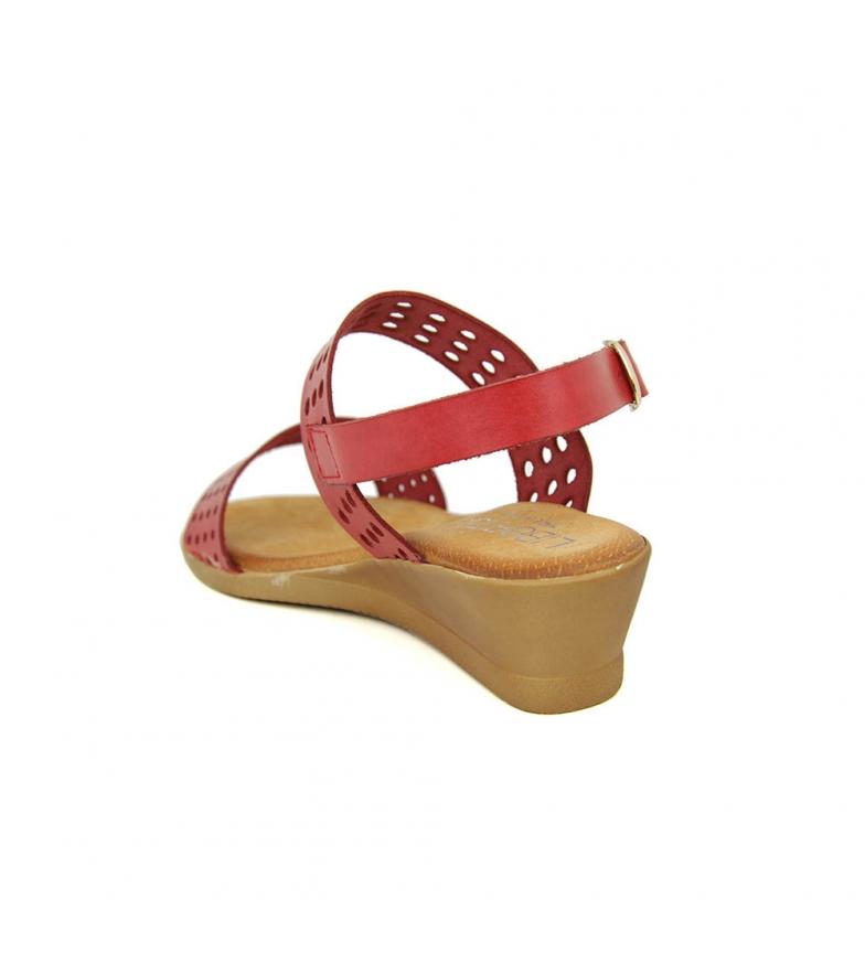 Piel Sandalia Minicuña En Rojo Liberitae gSxfqFgw