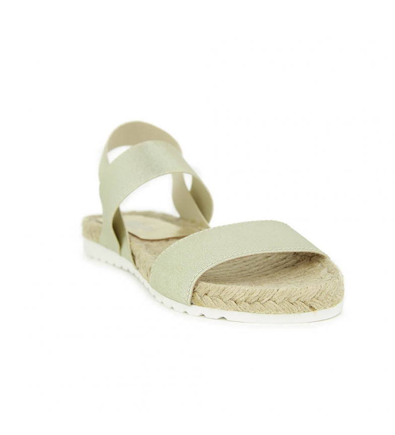 Oro Sandalia Liberitae En plana y Textil elasticos YRRd1fU