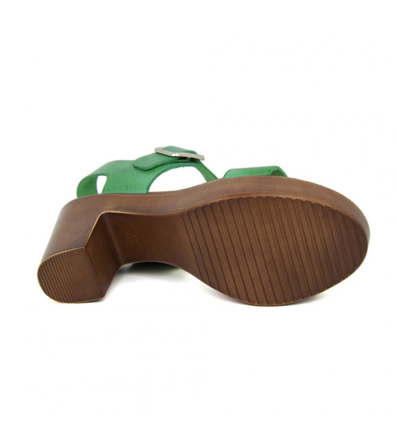 Piel Verde Sandalia Tacon En Liberitae wxtIapI
