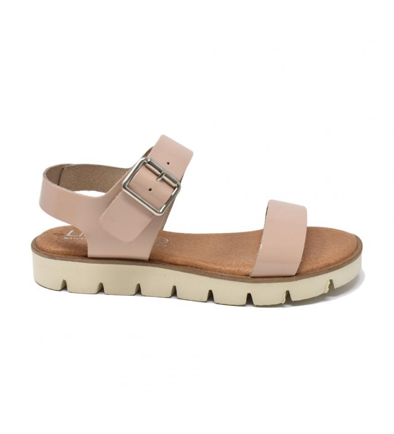Comprar Liberitae Sandale en cuir nu plat