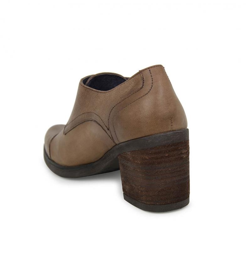 Taupe Liberitae En Abotinado Marion Piel Zapatos IYmgyf7vb6